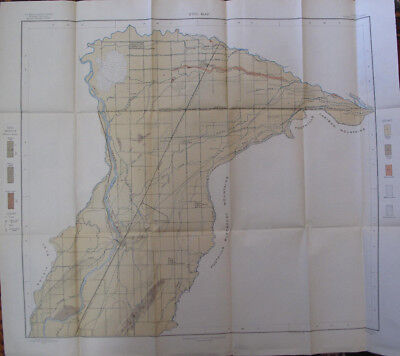 Folded Color Soil Survey Map Idaho Falls Sheet Ammon Lewisville Iona Rigby 1903