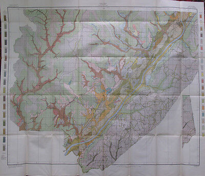 Color Soil Survey Map Jackson County Alabama Bridgeport Scottsboro Pisgah 1911