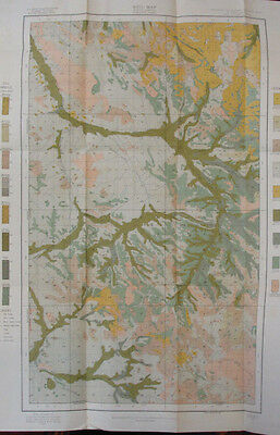 Color Soil Survey Map McKenzie North Dakota Bennie Pierre Creek Sheep Butte 1907