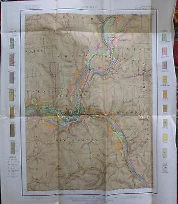 Folded Color Soil Survey Map Binghamton New York Kirkwood Sanitaria Springs 1905
