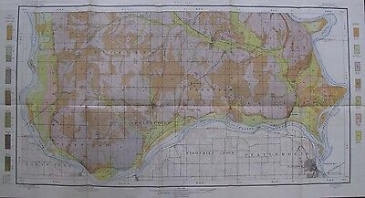 Folded Color Soil Survey Map Sarpy Nebraska Papillion Plattsmouth Bellevue 1905