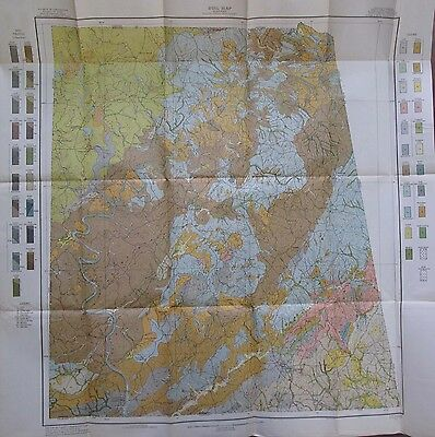 Soil Survey Map Randolph County Alabama Roanoke Wedowee Wadley Pittman 1911