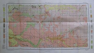 Folded Color Soil Survey Map Owosso Michigan Corunna Westhaven New Lathrop 1904