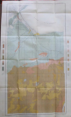 Color Soil Survey Map Superior Wisconsin Minnesota Duluth Itasca Rockmont 1904