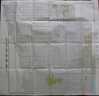 Folded Color Soil Survey Map Crookston Minnesota Beltrami Neilsville Sisher 1906