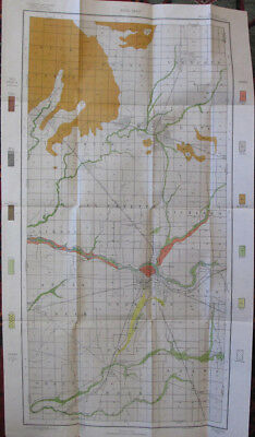 Color Soil Survey Map Madison County Indiana Anderson Alexandria Pendleton 1903