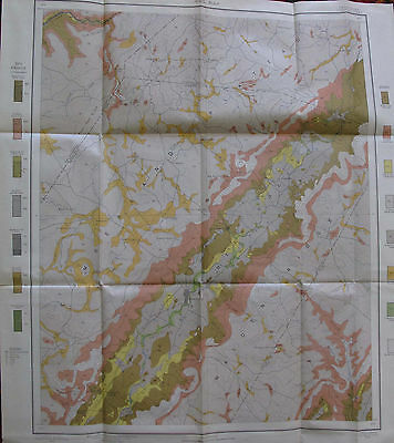 Folded Color Soil Survey Map Pikeville Tennessee Cold Spring Melvine 1903