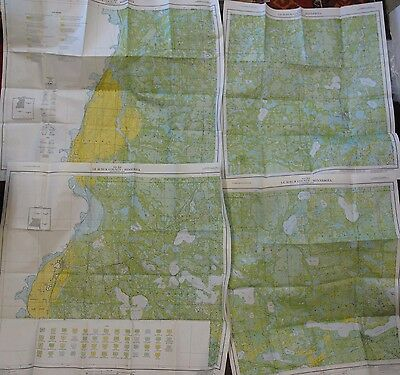 Folded 4 Sheet Soil Survey Map Le Sueur County Minnesota Kasota Waterville 1954