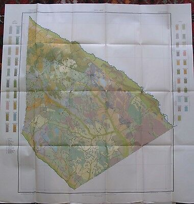 Color Soil Survey Map Bamberg County South Carolina Olar Denmark Ehrhardt 1913