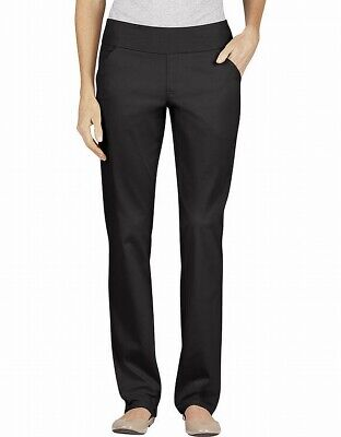 Dickies Women's Black Size 12 Pull On Modern Fit Twill Pants Stretch $32- #399