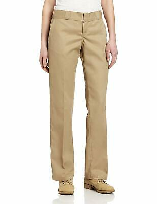Dickies Women's Beige Size 22X30 Plus Regular Fit Work Pants Stretch $44 #283