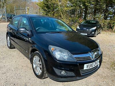 2010 10 Vauxhall Astra 1.6 SXi 5dr 102000mls With Full Service History. In Black