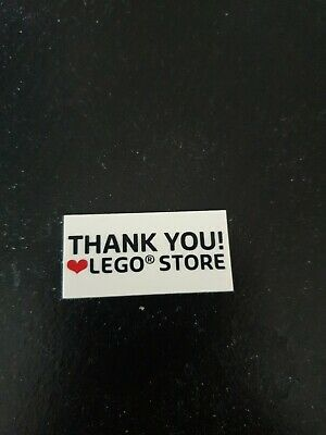 LEGO Store Thank You Heart Tile, Rare And Hard To Find!