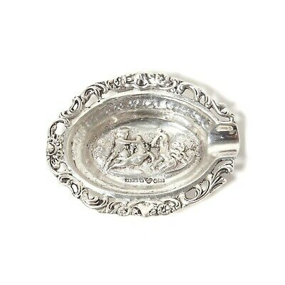 Silver ashtray.  Sweden, Malmo, year 1951, workshop Gewe
