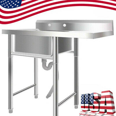"""Utility Sink 39"""" Stainless Steel Silver for Room Commercial Outdoor/Laundry USA"""