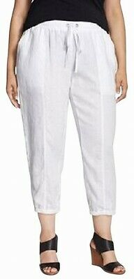 Eileen Fisher Women's Pants White Small S Casual Drawstring Stretch $150- #147