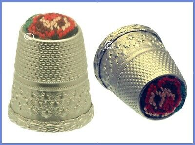 Austrian Thimble with Embroidery Top *20th Century