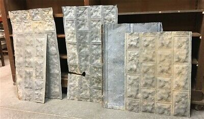 5 Galvanized Tin Sheets, Roof Ceiling Sink Backsplash, Architecture Salvage c