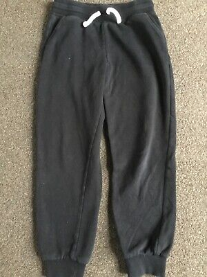 Girls Black Sweatpants Age 8-9 Years