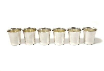 Silver​ vodka cups (shot cups), 6 pcs. Sweden, year 1966, workshop Befa