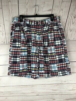 JOS A BANK Men's Patchwork Plaid Shorts Madras Bermuda Golf Cotton 36""