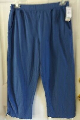 Fresh Produce Pull On Cropped Crop Capri Pants Blue Key West Womens Size Medium