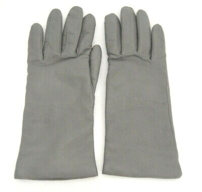 Vintage Fownes Womens Gray Leather Gloves Cashmere Lining Size 7 WPL 9522