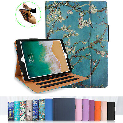 For iPad 10.2 7th Gen 2019 Case Multi-Angle Stand Cover w/Pocket Pencil Holder