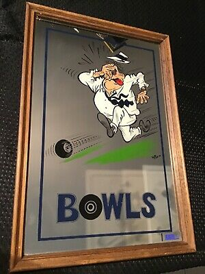 1980's BOWLS BAR MIRROR  ALULITE