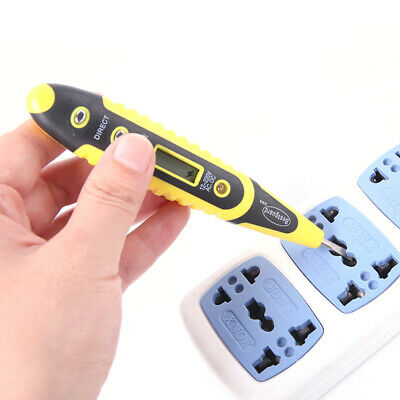 12-220V AC DC Digitale Spannungsprüfer Tester Pen Light LED-Electric-Sensor F4O3