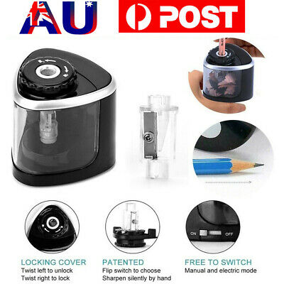 Classroom Electric Pencil Sharpener Battery Powered Auto School Office Portable