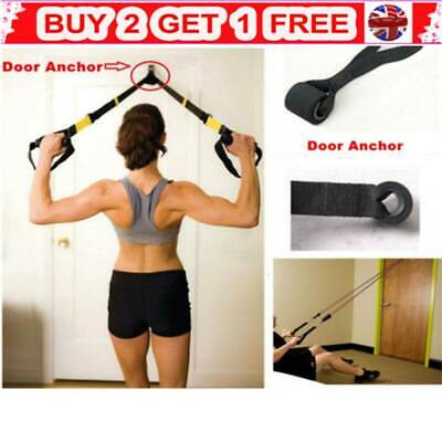 Training Exercise Over Door Anchor Resistance Bands Home Fitness  Elastic Band'