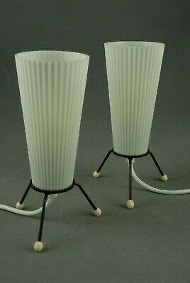 Pair of Small Tripod Lamps Mid Century Modernist Bauhaus Vintage 1950s 60s 70s