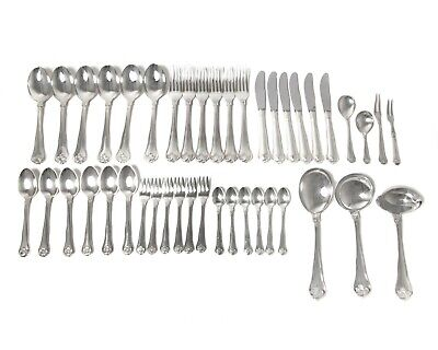 "Silver cutlery set for 6 persons, 43 items. ""Saksisk, Saxon"". Denmark, Cohr"