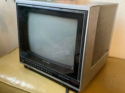 "Vintage 1985 Sharp Trinitron 9H102 12"" Color Monitor Retro Gaming"