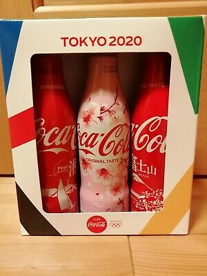 New Tokyo 2020 Olympic Limited Cocacola Aluminum Full 250Ml 3 Slim Bottles F/S