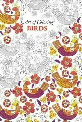 Art of Colouring Birds Adult Colouring Book 24 A4 Size Pages.