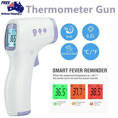 LCD Digital Non-contact IR Infrared Thermometer Forehead Body Head Temperature