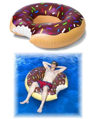 Buñuelo Hinchable Marrón Piscina Mar Donut Homer Simpson 07354