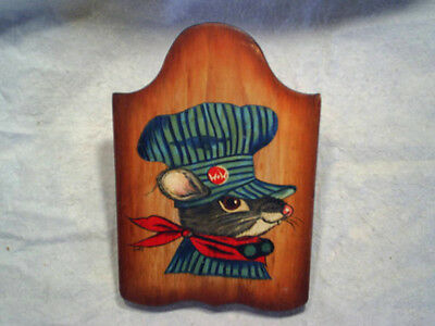 MOTORIST RAT PLAQUE W&W Signed By Sandy wall hanging hand painted,railroad,wood