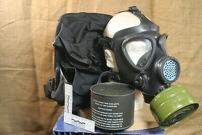Israeli Military Surplus M15 Gas Mask w/ 2 40mm Filters Adult size with bag
