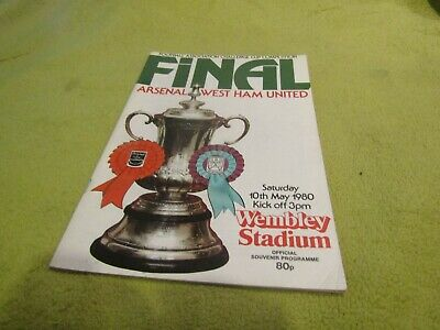 Arsenal v West Ham United in 1980 FA Cup Final at Wembley