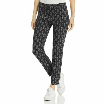 Le Gali Womens Pants Black Size 12 Mid-Rise Straight Leg Stretch $129 024
