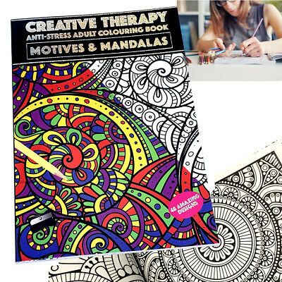Garden & Animals Creative Therapy A4 Adults Colouring Book Anti-Stress Activity