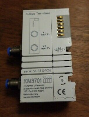 Beckhoff KM3701 1 Channel Differential Pressure Measuring Terminal 100 hpa