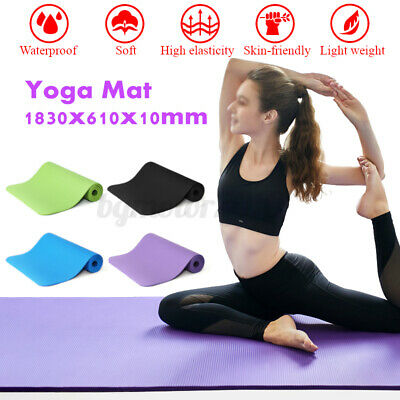 Yoga Mat All-Purpose 1/2-Inch Extra Thick Anti-Tear Exercise with Carrying Strap