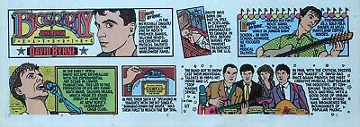 Biography - David Byrne - Talking Heads - color Sunday comic page - May 7, 1989