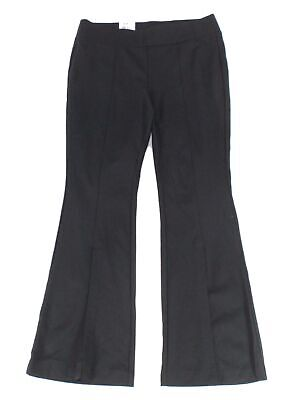 INC Womens Pants Black Size 22W Plus Split Front Flare Pull On Stretch $89 140