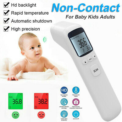 IR Infrared Digital Forehead Fever Non-Contact Thermometer Baby & Adult Body UK
