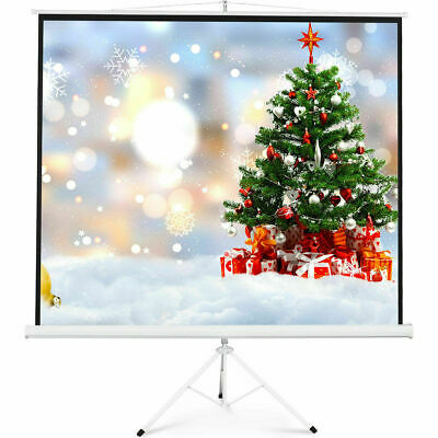"100"" Tripod 70 Portable Projection Screen Square 70x70 Projector Stand Office"